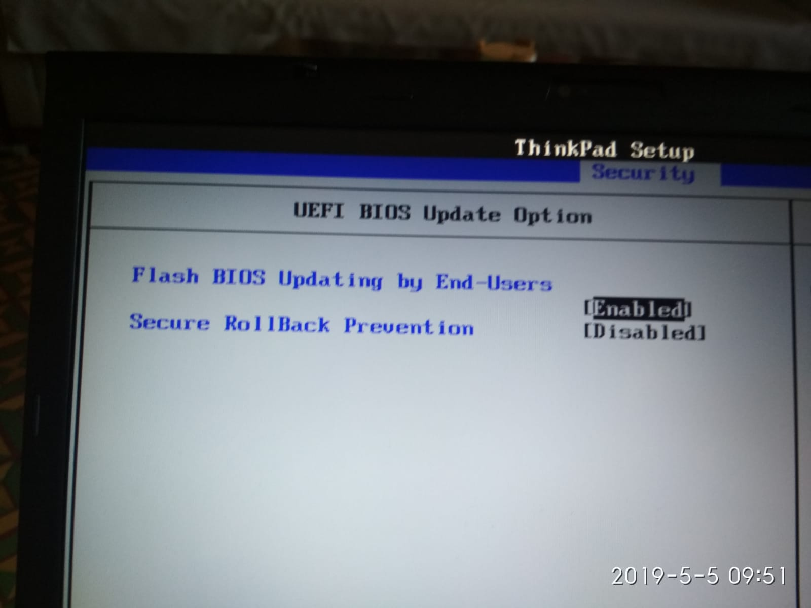 Madison : Lenovo t530 bios update