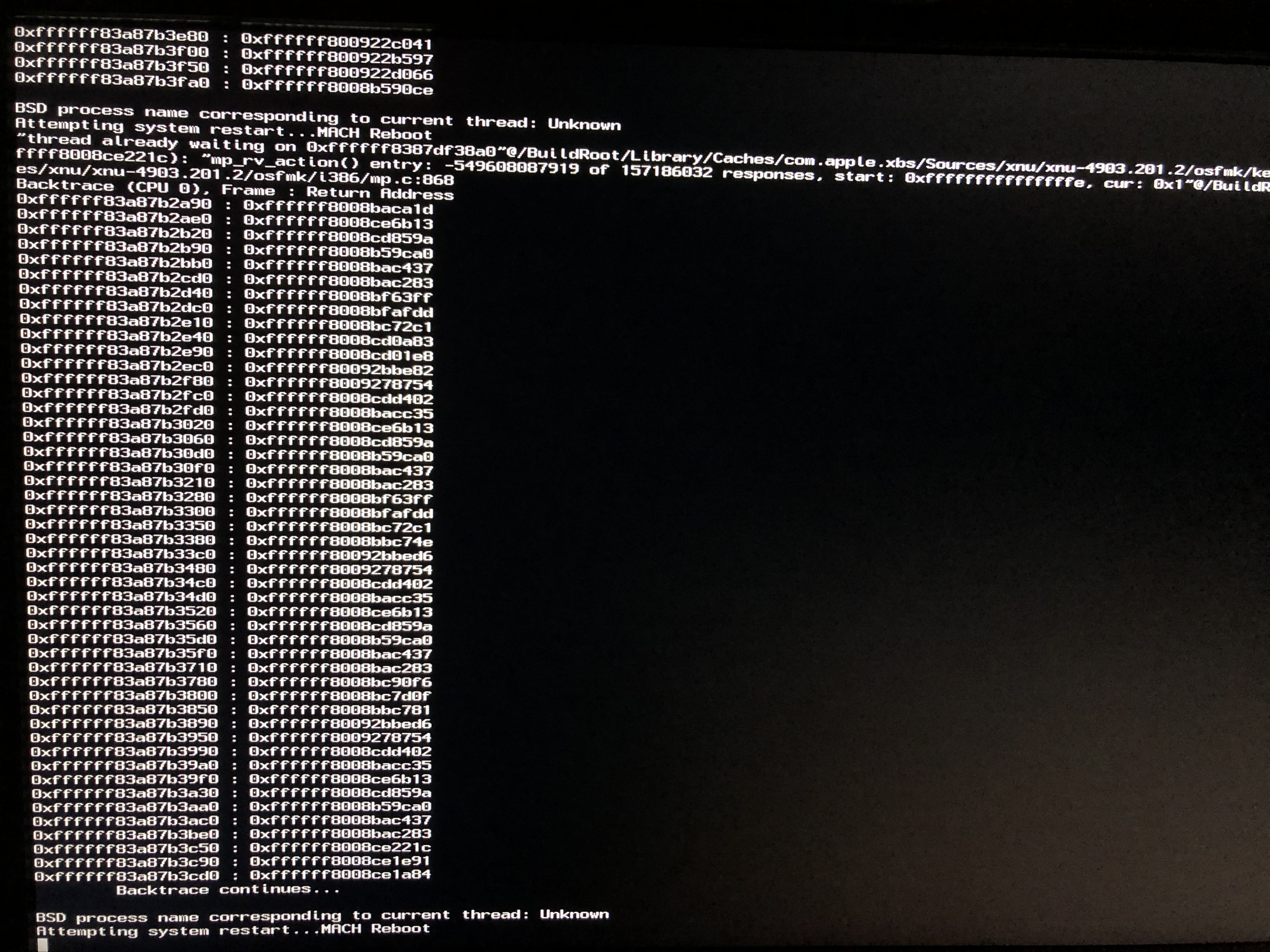 Solved] BSD process name corresponding to current thread