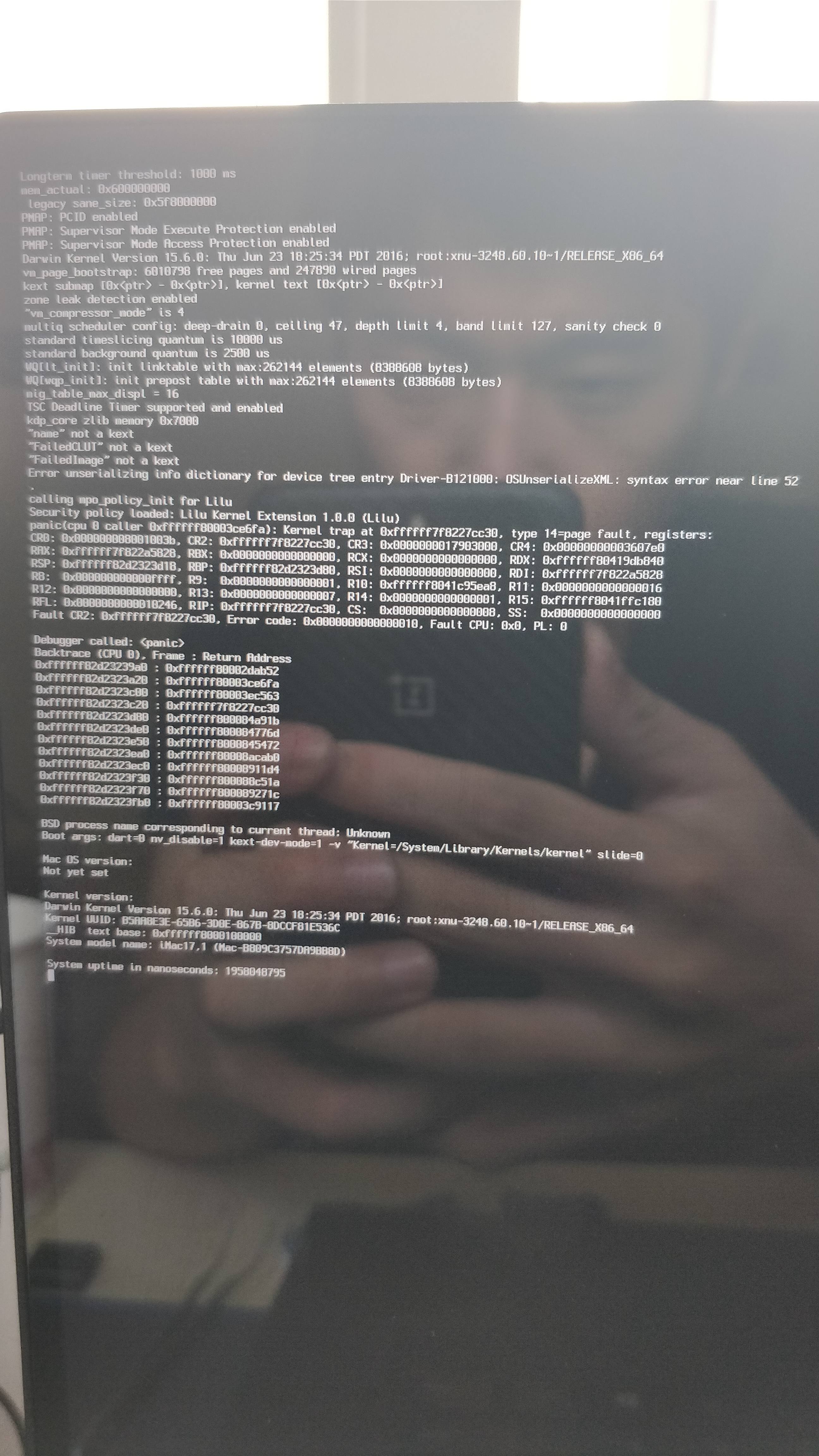 solved] only boot in safe mode after clover update