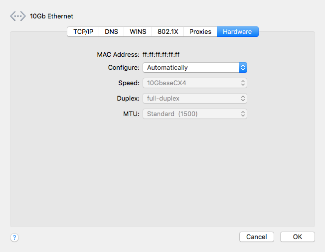 High Sierra native support for 10Gb ethernet   Page 13