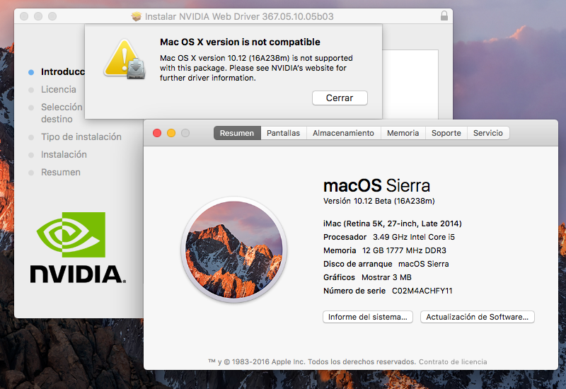 NVIDIA Releases Alternate Graphics Drivers for macOS Sierra
