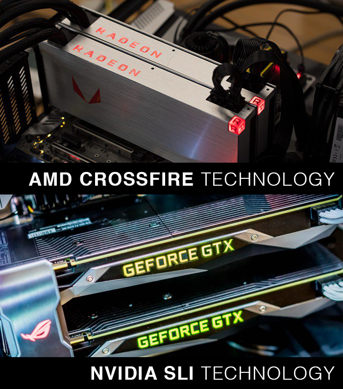 Dual Graphic Card like NVIDIA SLI or AMD Crossfire work in