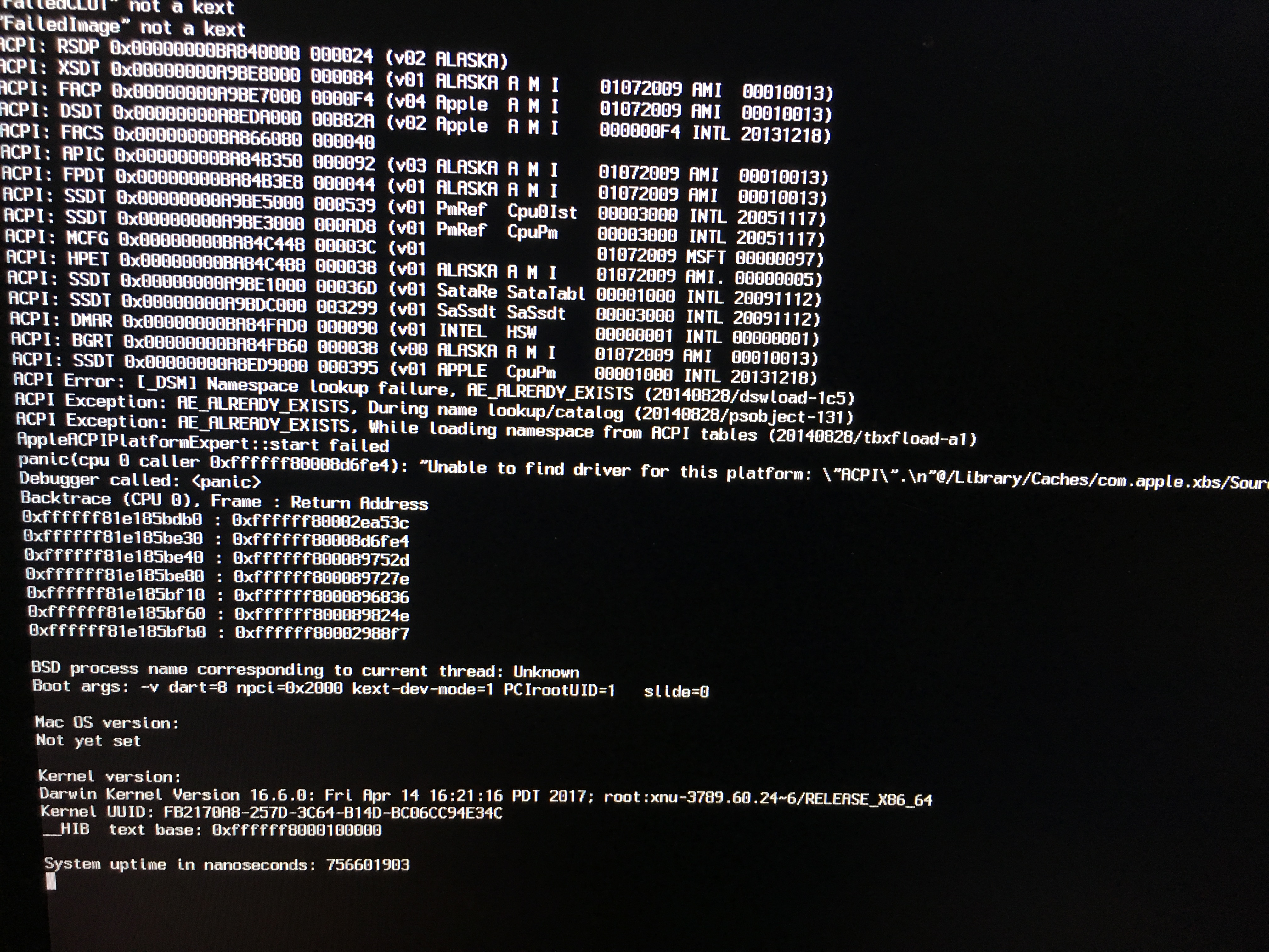 Solved] Kernel panic after 10 12 5 Update (cpu caller 0