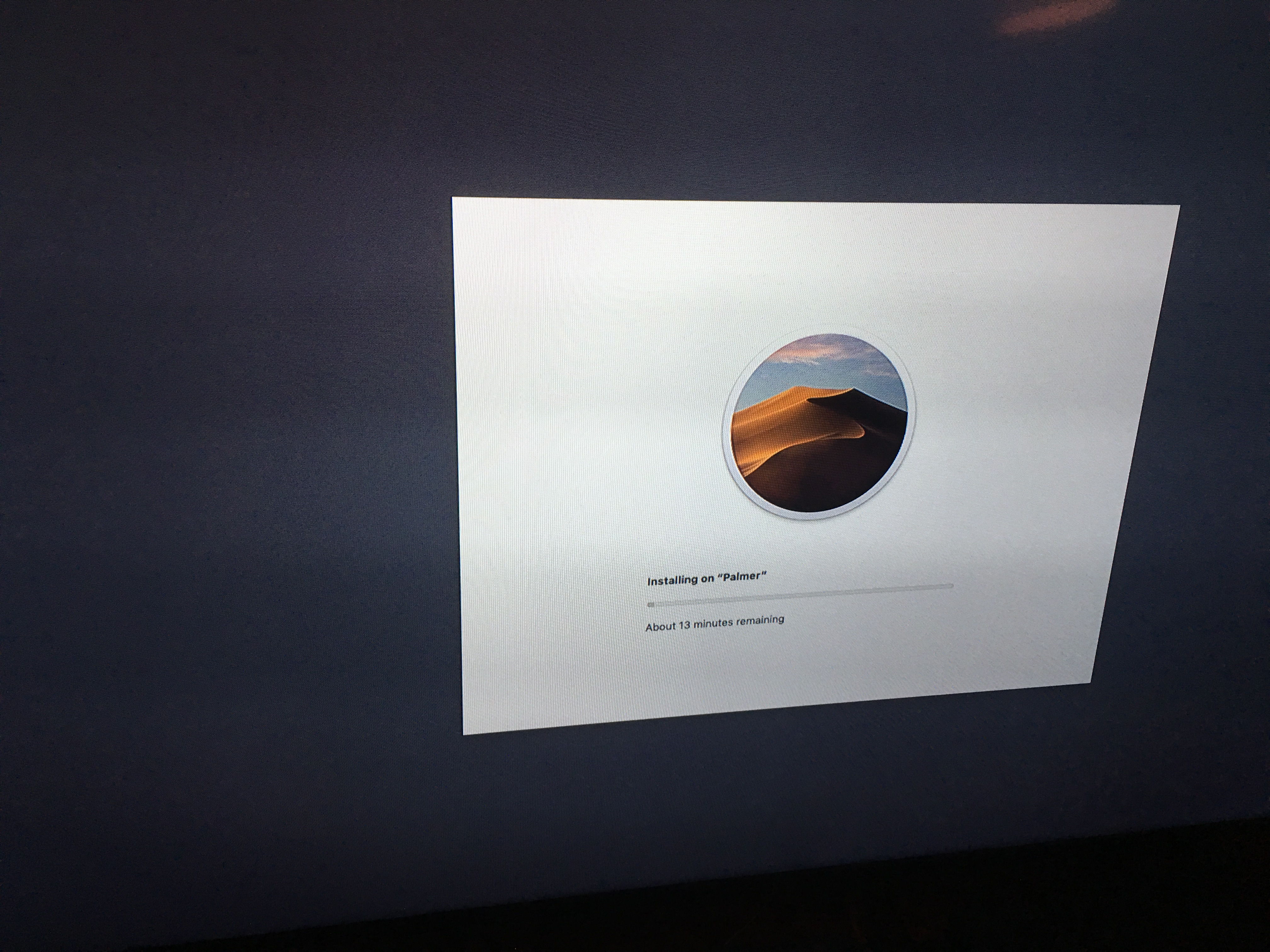 Installing Mojave with stall at apps module start