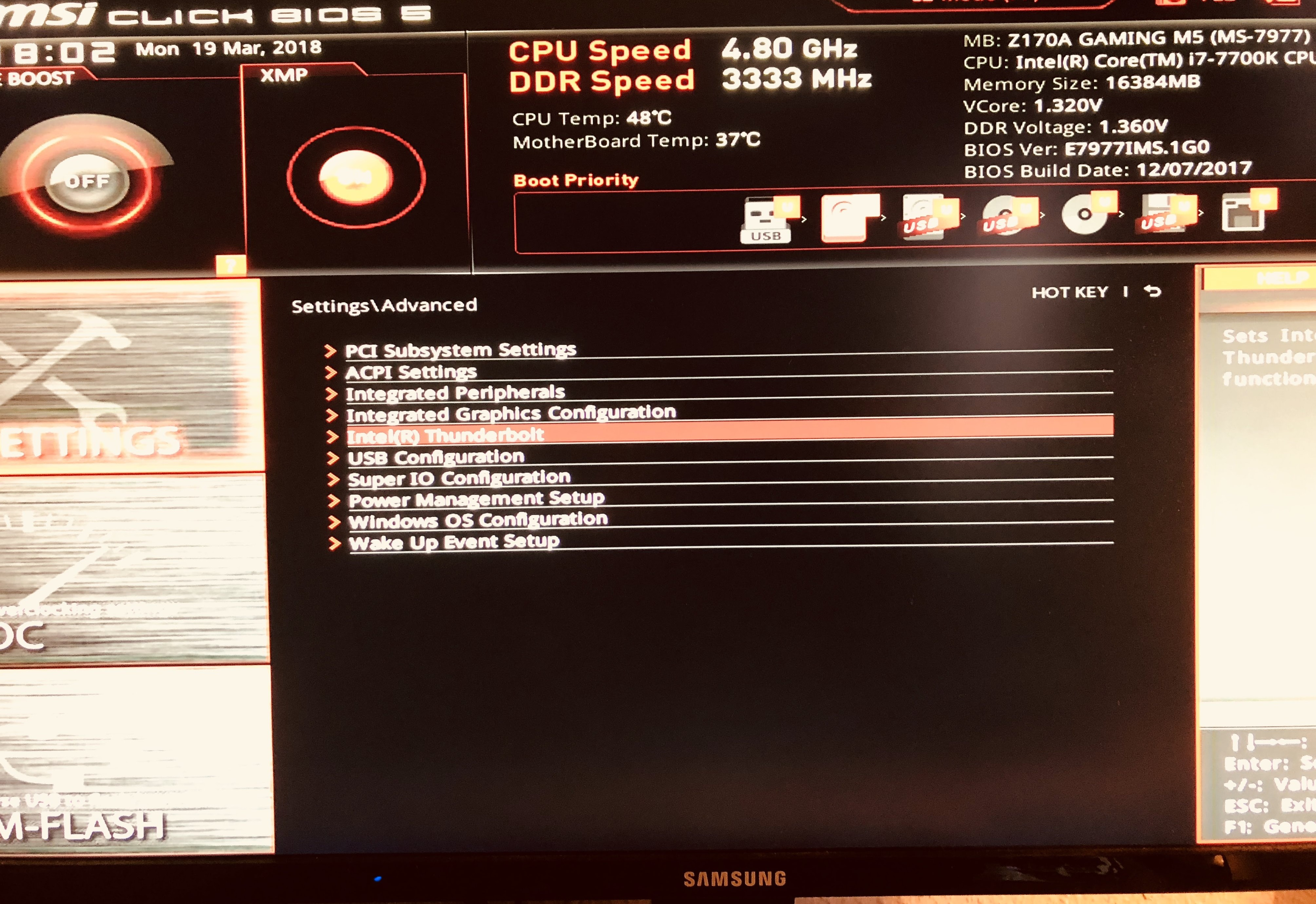 MSI Z170A M5 Mobo + ASUS Thunderboltex 3 *Working
