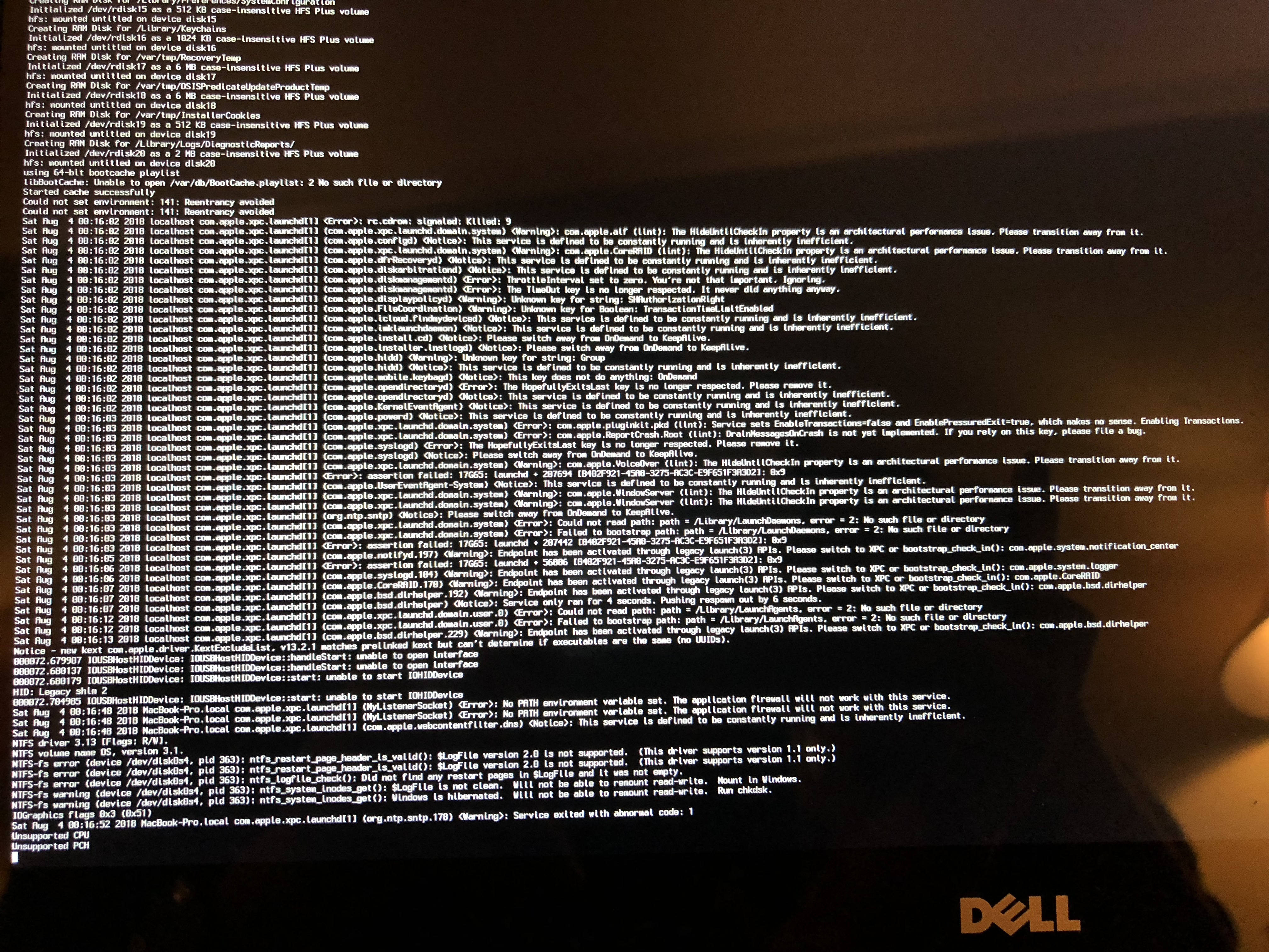 HELP] Dell XPS 9343 (2015) Unsupported CPU/PCH and other