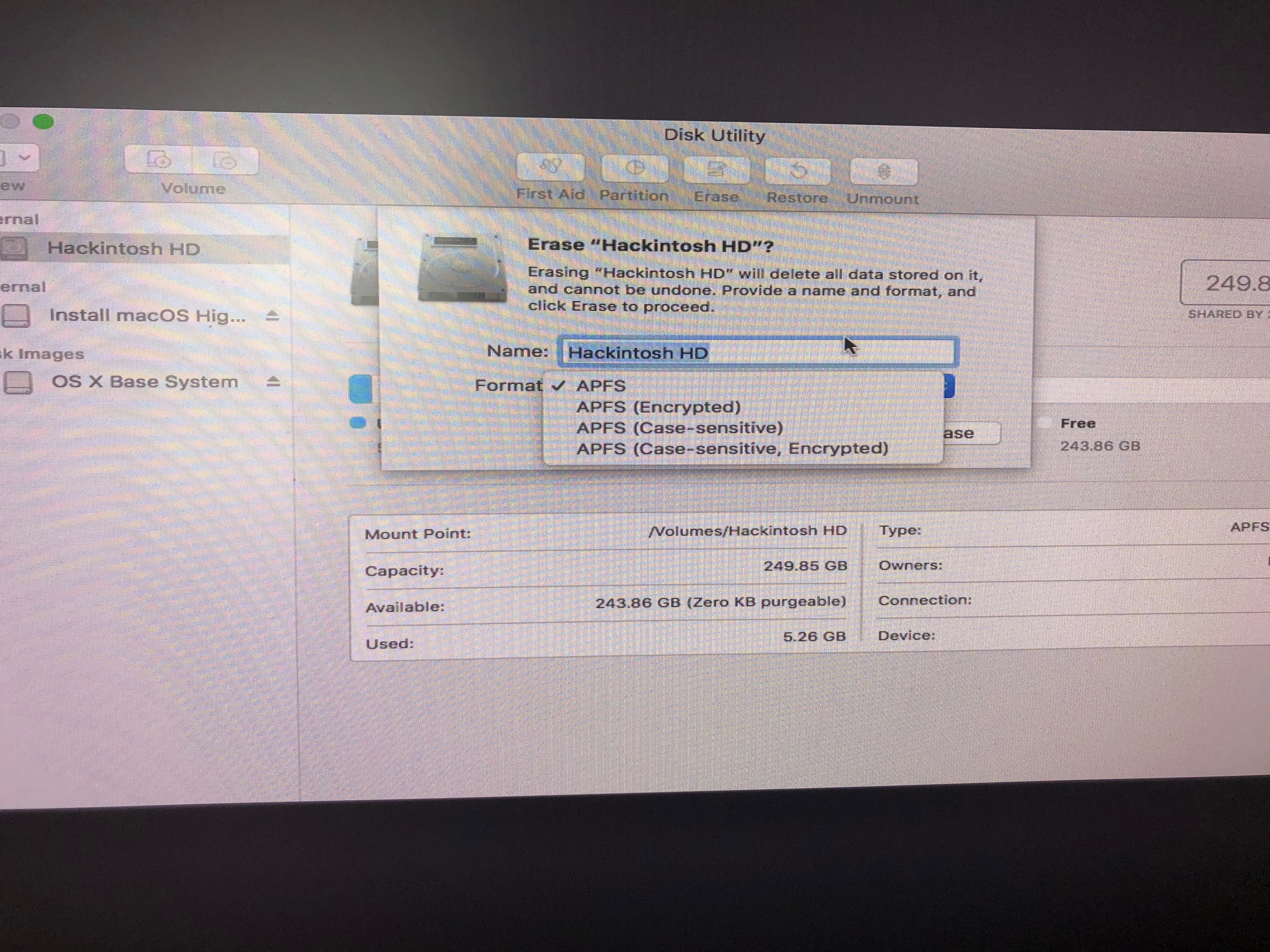 Disk Utility shows only APFS | tonymacx86 com