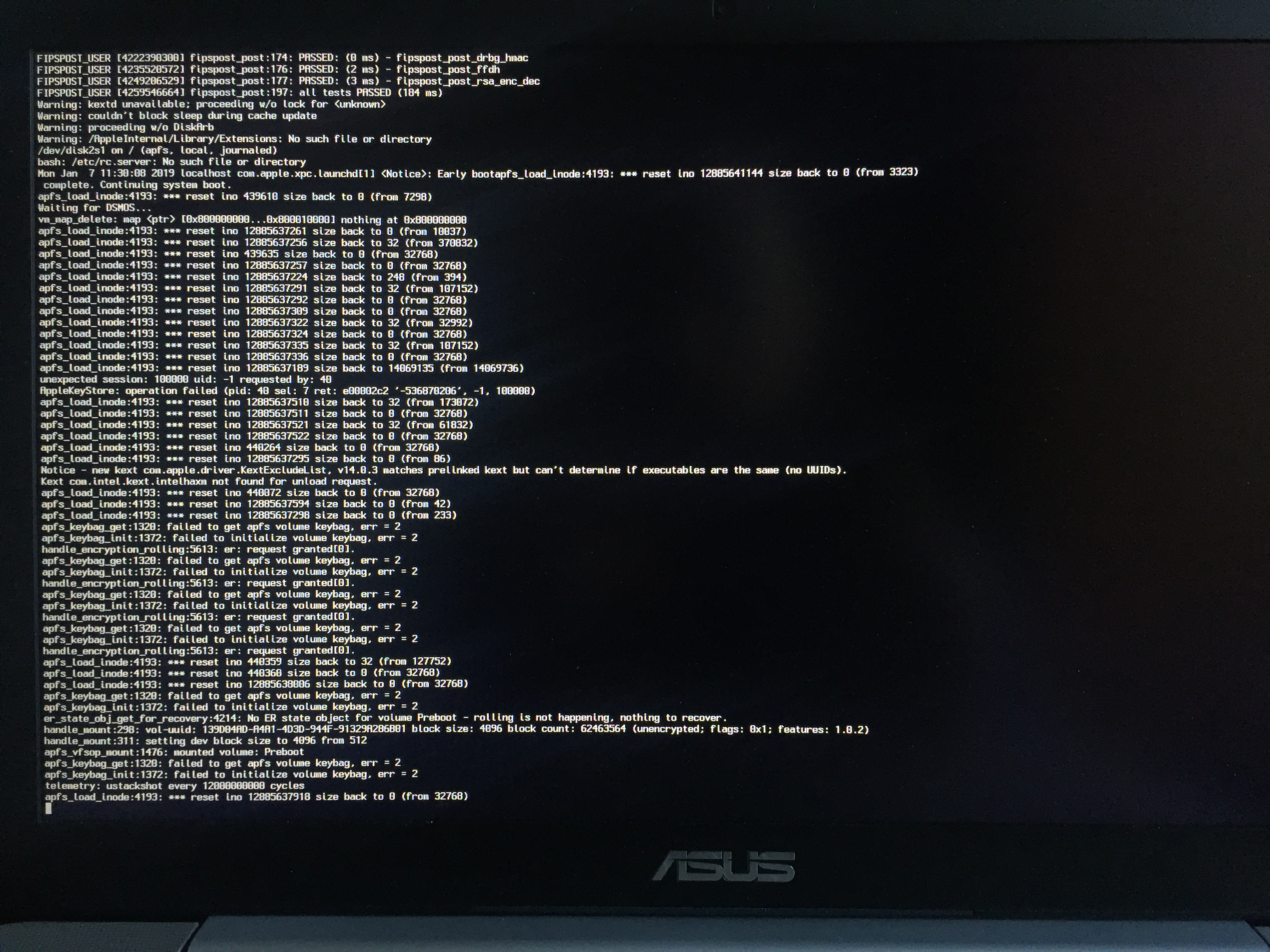 Stuck after (during?) Mojave upgrade directly from Sierra on