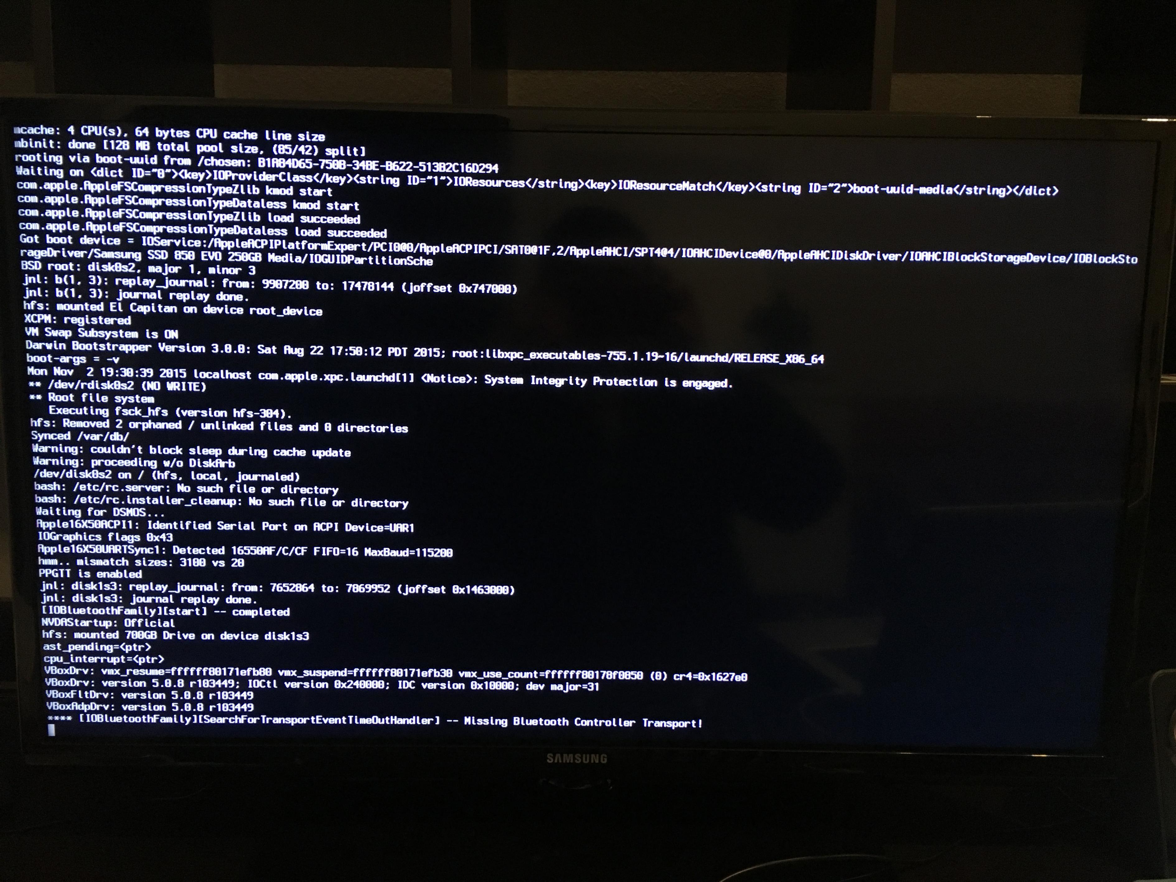 Help Hackintosh won\u0027t boot El Capitan, stuck at apple logo ...