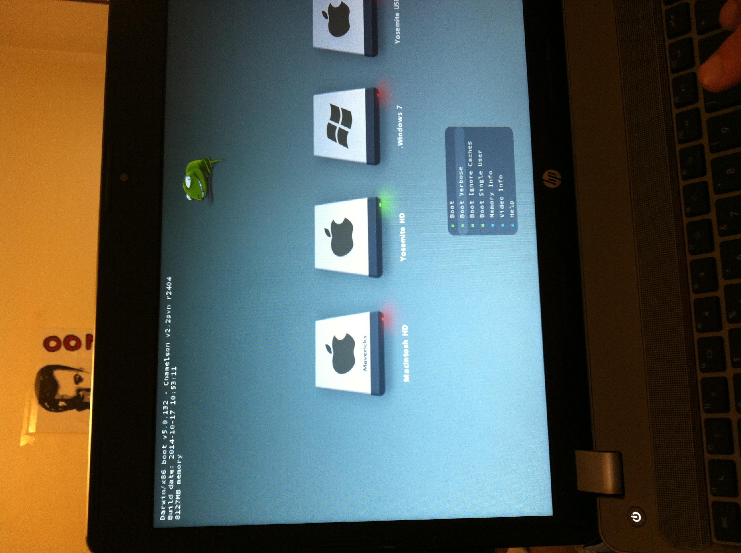 Is it possible to use Chameleon bootloader for Yosemite