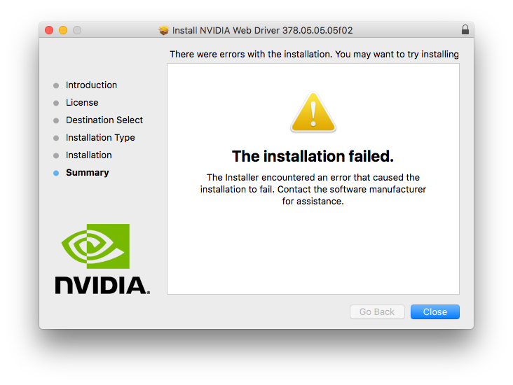 nvidia experience driver download failed
