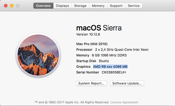Problems with AMD RX 570 in Sierra 10 12 6 | MacRumors Forums