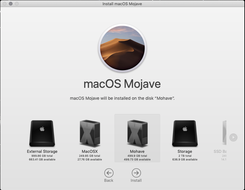 Solved - Mohave Clean install on