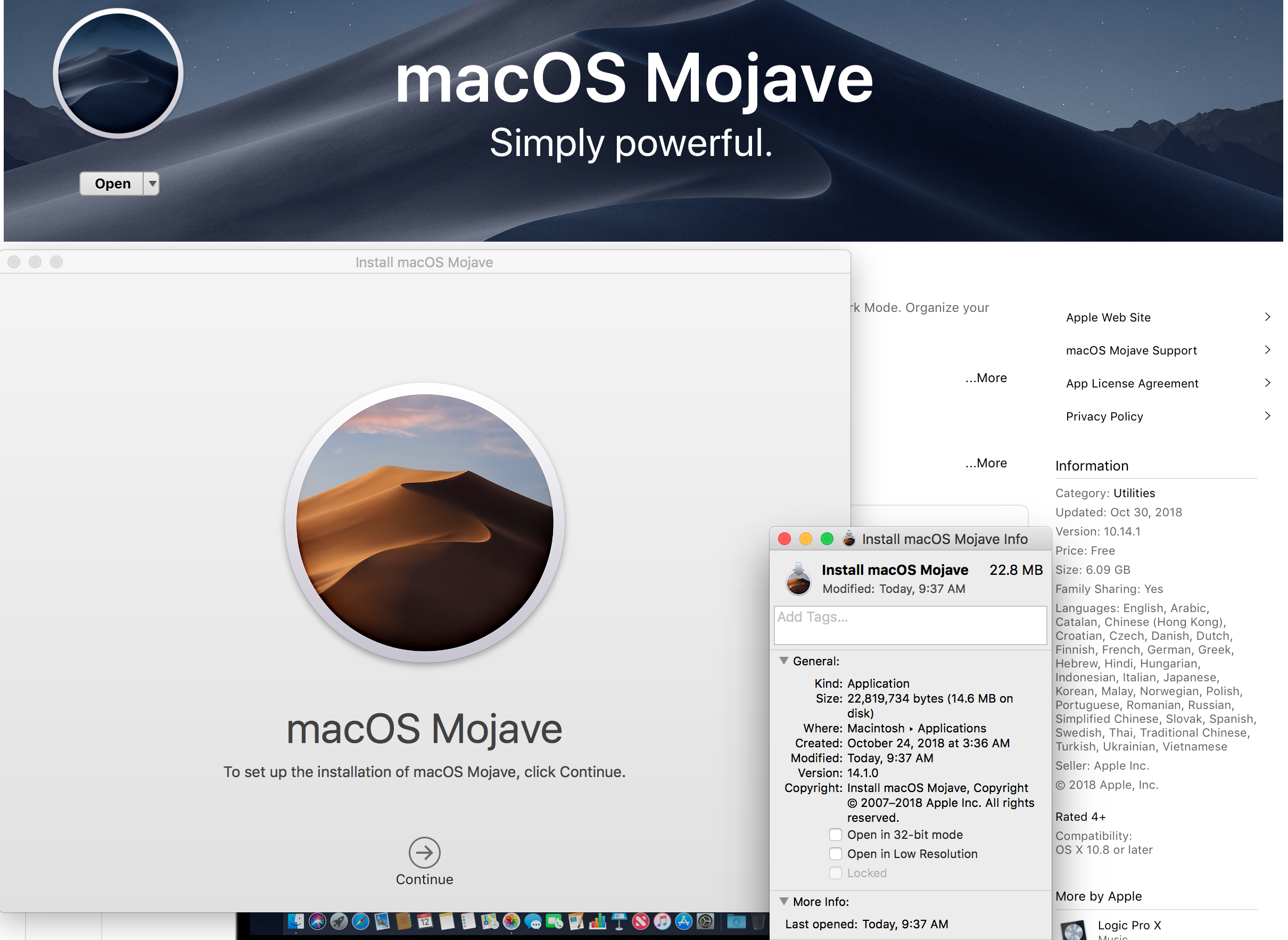 mac os mojave downloaded but not installed