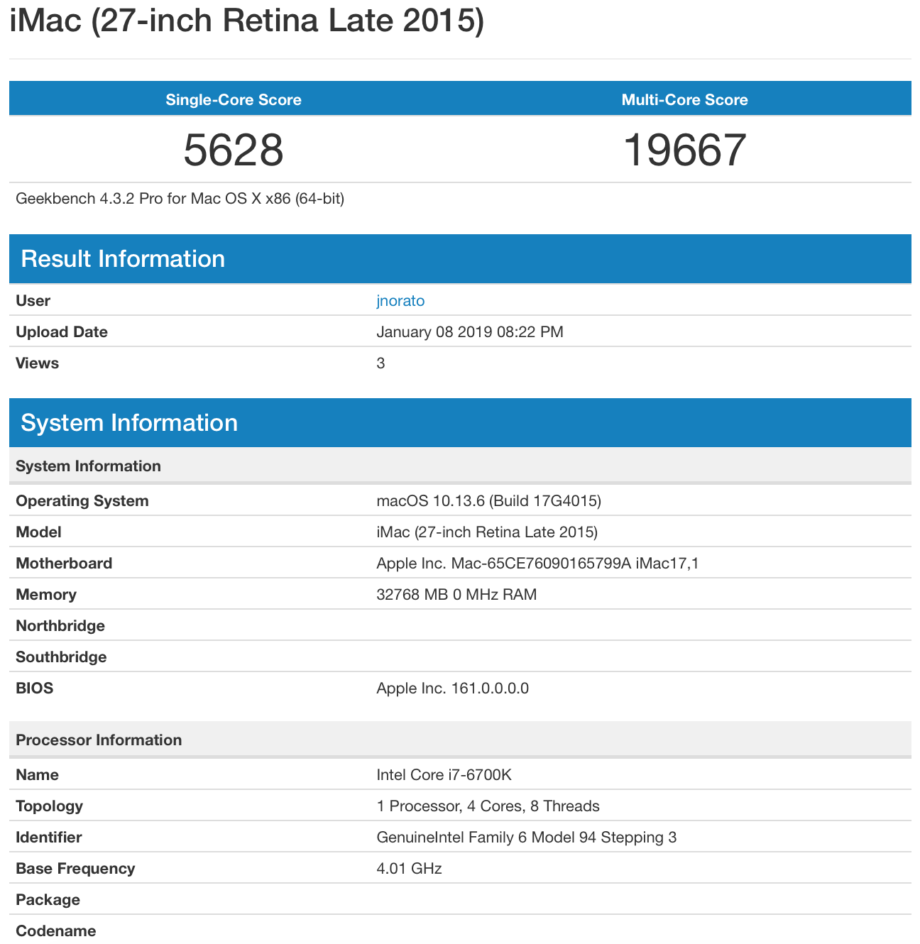 Post macOS/OS X Geekbench Benchmarks | Page 59 | tonymacx86 com