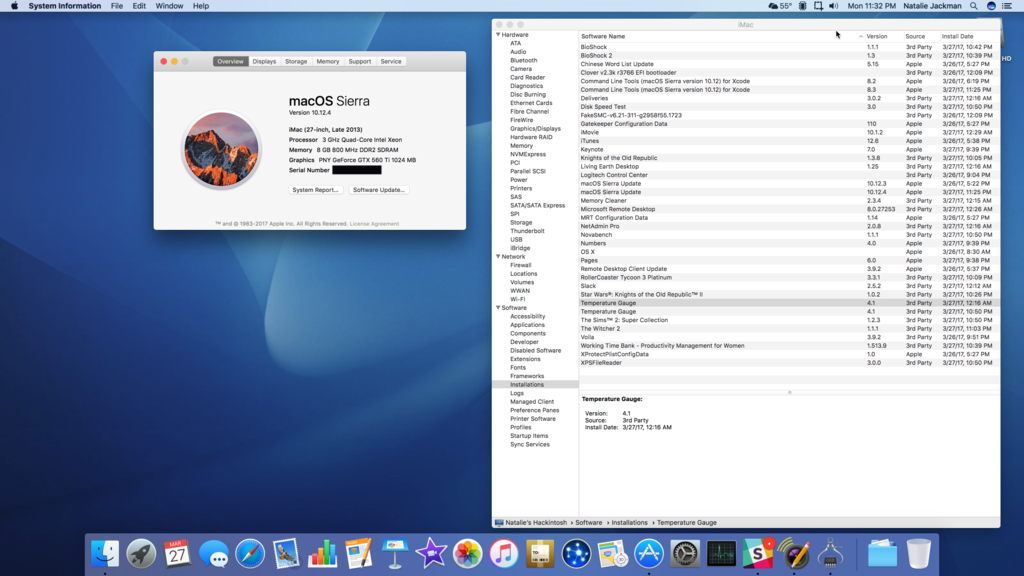 Successfully Installed Sierra 10 12 4 in ASUS P5Q-E