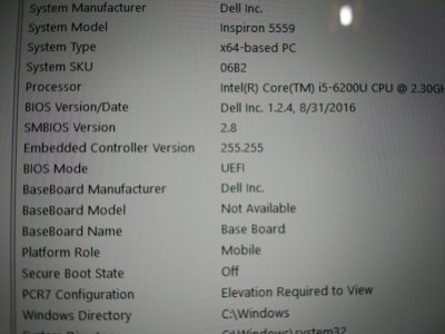 Dell Bios Backup/Extraction (Dell i5559) | tonymacx86 com