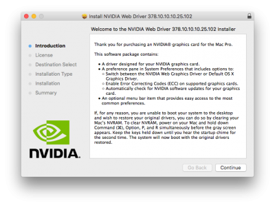 NVIDIA Releases Alternate Graphics Drivers for macOS High Sierra