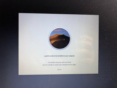 solved] The installer resources were not found macOS Mojave Public