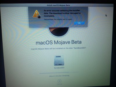 solved] Mojave install fails with