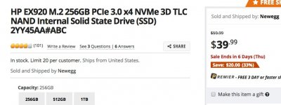 Summary of Choices for Name Brand 500/512 GB NVMe Drives