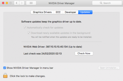 Syspref_NVIDIA Web Driver_up to date.png