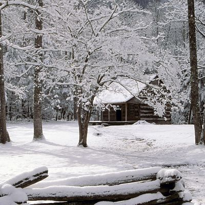 Winter Cabin in the Woods1920x1200