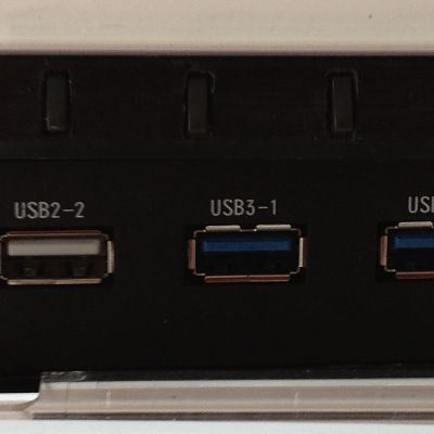 front usb and lcd controls