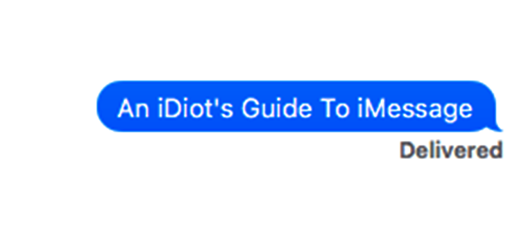 An iDiot's Guide To iMessage | tonymacx86 com