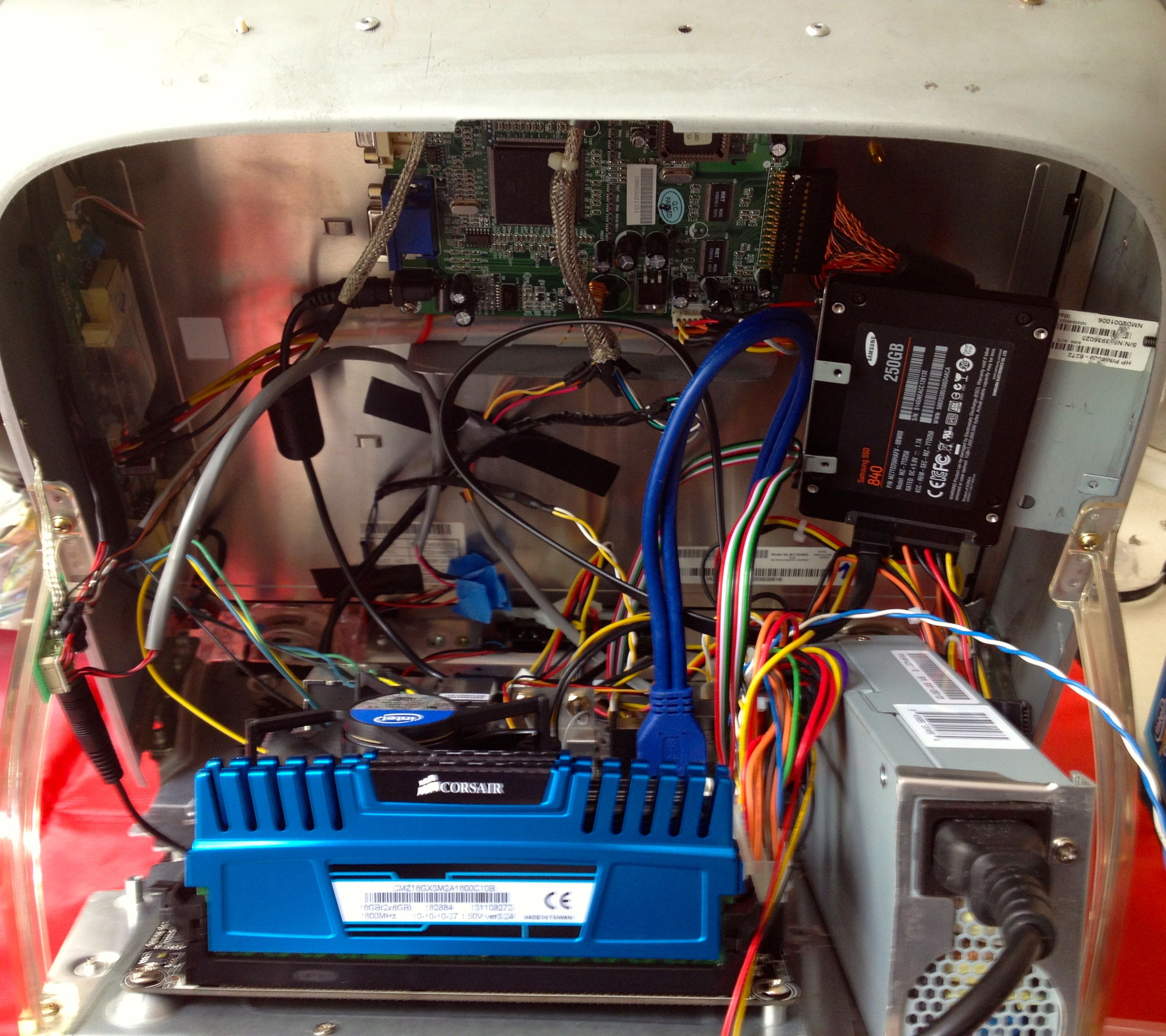 test fit of all internal components